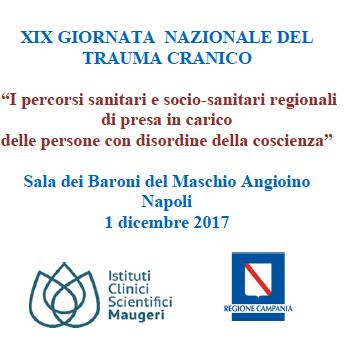 XIX Giornata Nazionale del Trauma Cranico, anche Progettazione a Napoli.