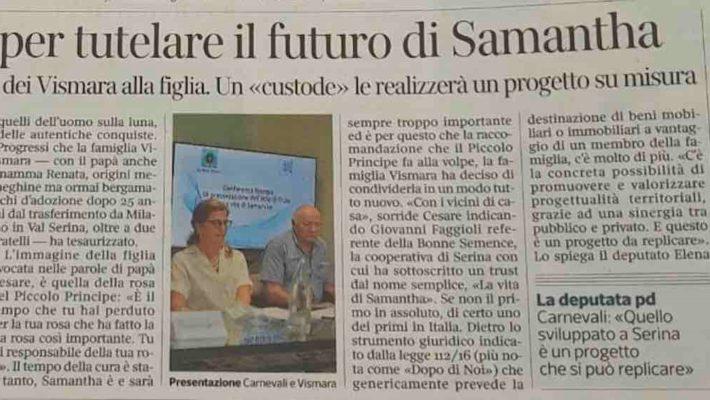 """Dopo di noi Bergamo. Ancora una cooperativa sociale protagonista di innovazione e di servizi per garantire  un futuro dignitoso per chi ha bisogno.  Nasce la prima esperienza a Bergamo di Trust per la tutela del """"dopo di noi"""""""
